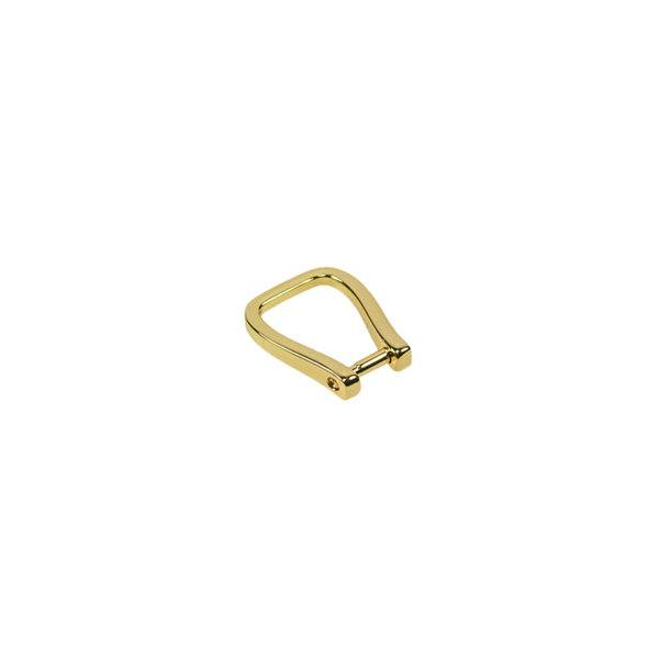 D-ring 10x22mm goud