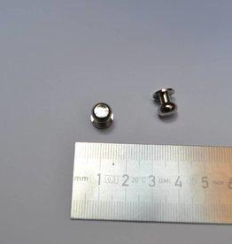 POM1 Geweerknopjes zilver  3x7 kop 7.8mm