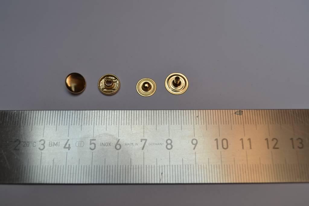 Drukknopen goud 9mm