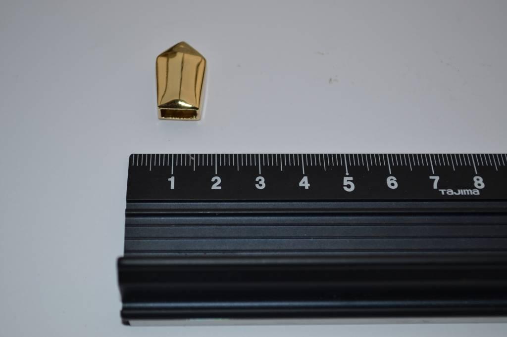 Eindstuk goud 10mm (per 2)