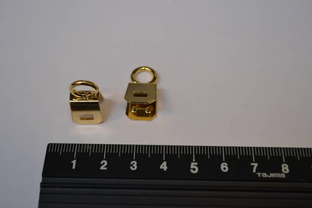 Draagriembevestiging 6mm goud