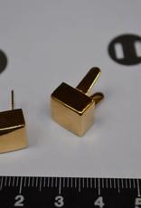 PO20 pootjes met splitpennen 10mm vierkant goud