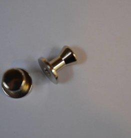 POM32  Geweerknopjes zilver konisch 7.9mm