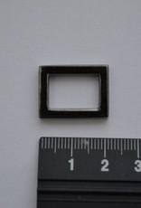Rechthoekige ring 15mm gunmetal