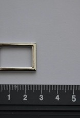 Rechthoekige ring zilver 20mm