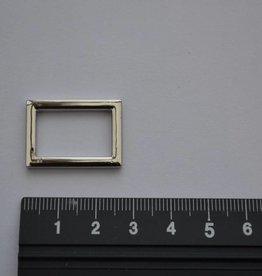 R48 Rechthoekige ring zilver 20mm