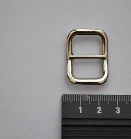 S2 Schuifgesp 15mm zilver