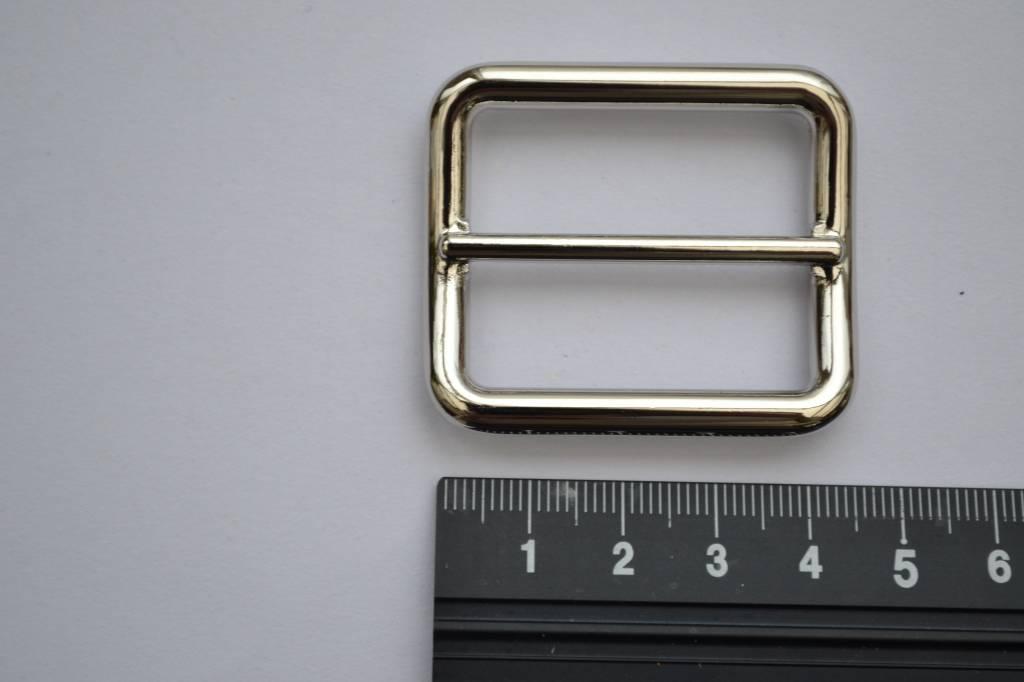 Schuifgesp zilver 35mm