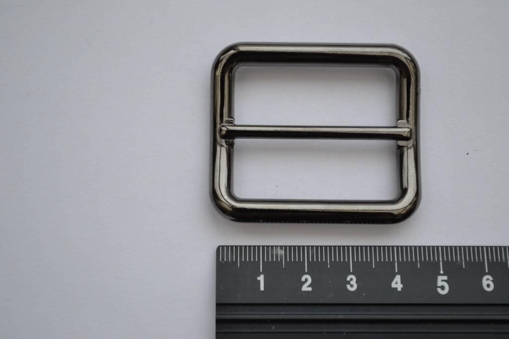 Schuifgesp 35mm gunmetal
