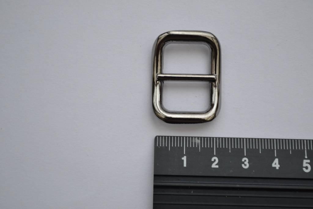 Schuifgesp 15mm gunmetal