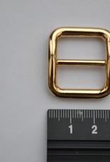 Schuifgesp 20mm goud