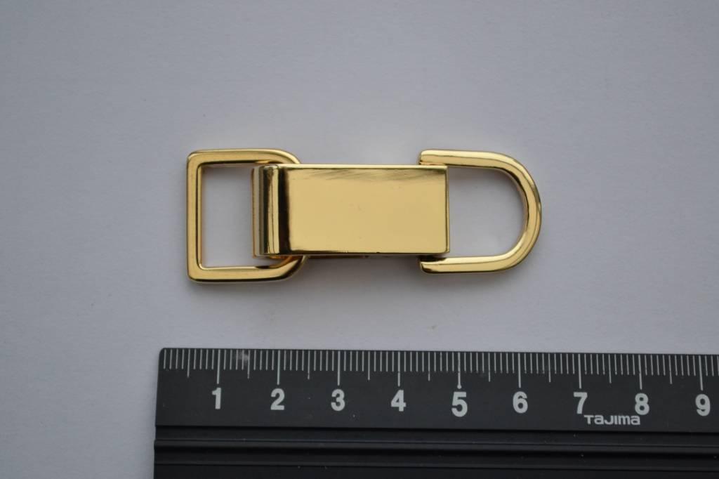 SET musketon+ring 15mm goud