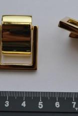 Draagriembevestiging goud met afdekplaatje 20mm