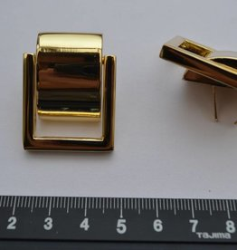 A22 Draagriembevestiging goud met afdekplaatje 20mm