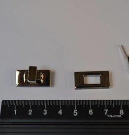 TW43 Draaisluiting zilver klein rechthoekig