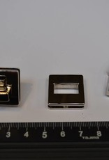 Draaisluiting vierkant zilver