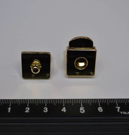 F57 Kliksluiting goud vierkant