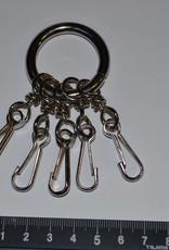 Ring met 5 sleutelhangers zilver