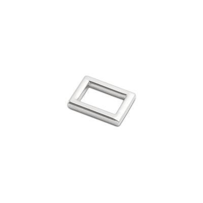 Rechthoekige ring 10mm zilver