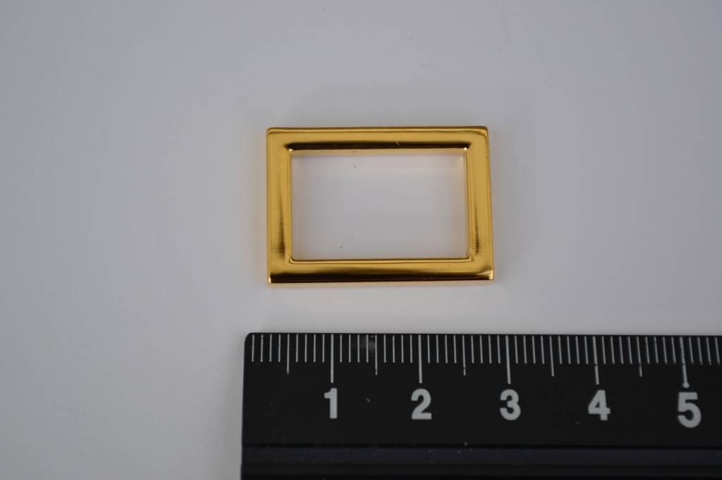Ring rechthoekig goud 20mm