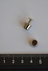 PO24 pootjes met vijsjes 7x10mm konisch zilver