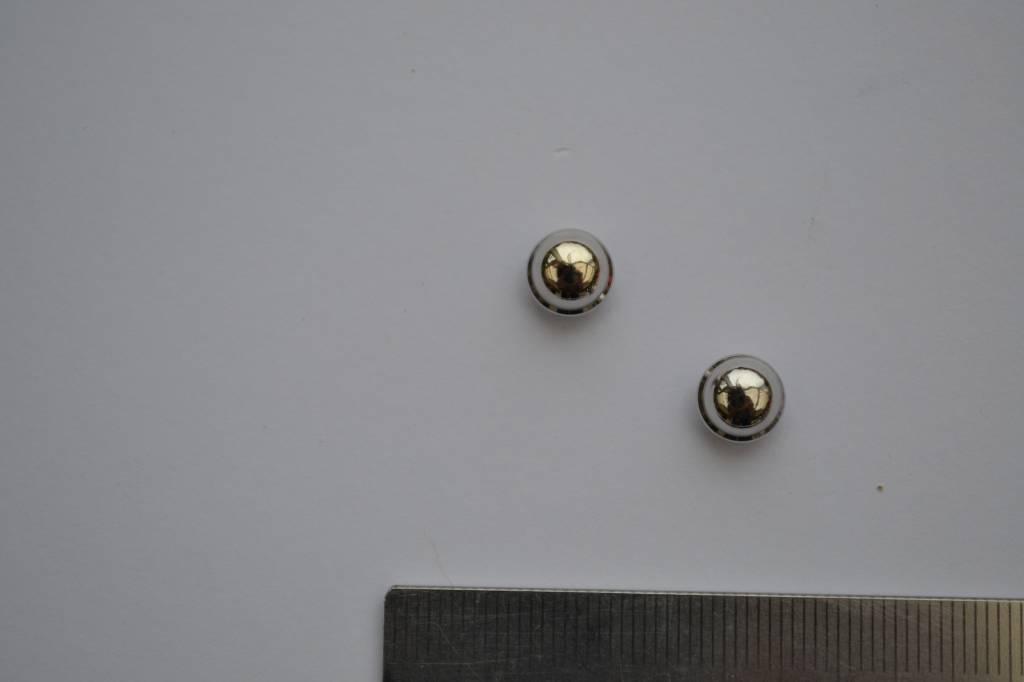 VR08 Sierknop met vijsjes rond 5mm zilver