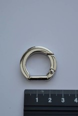 Musketonhaak rond 13mm zilver