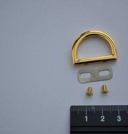 A75 Draagriembevestiging  ring 20mm goud (per 2)