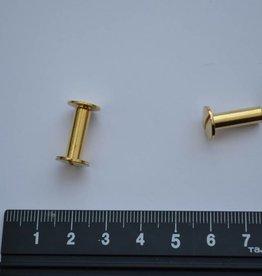 B46 Boekschroef 10x15mm goud