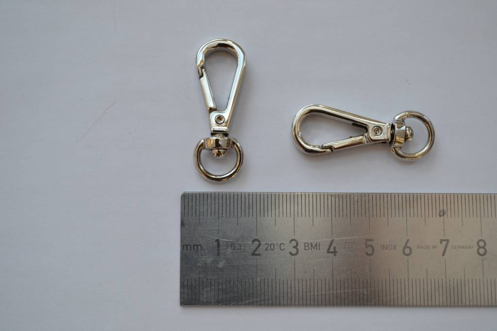 Musketonhaak zilver 10mm