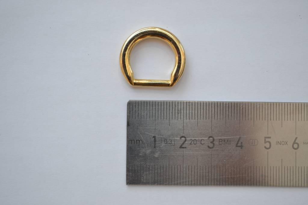 D-ring goud 10mm