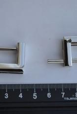 Draag riembevestiging zilver 20mm