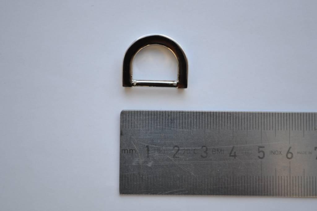 D-ring zilver 15mm