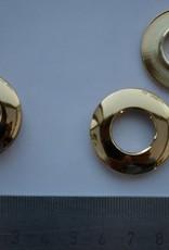 Oog rond goud 14mm