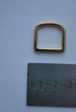 D-ring goud 15mm