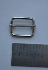 Schuifgesp zilver 25mm
