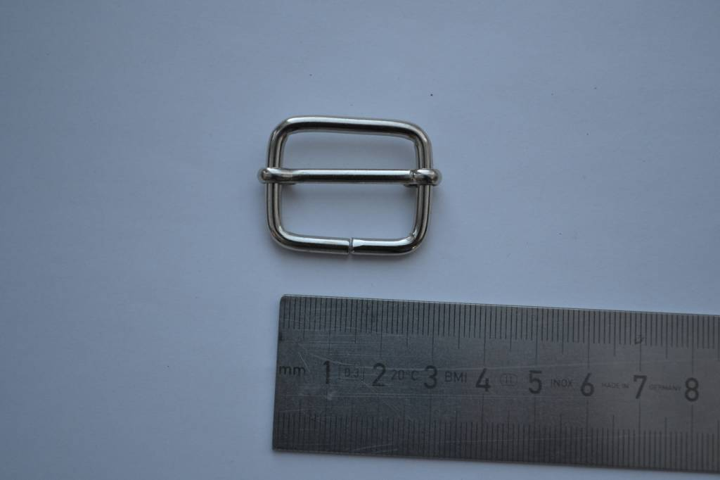S21 Schuifgesp zilver 25x20x3.5mm