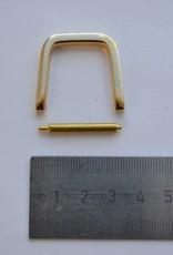 D ring 25mm goud