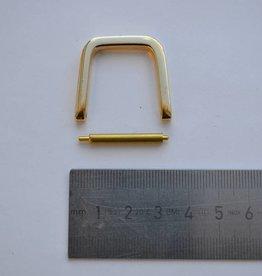 R116 D ring 25mm goud