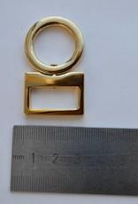 Draagriembevestiging goud 20mm