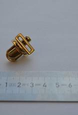 Boekentasslot klein goud