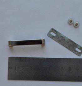 A63 Draagriembevestiging brug 35mm zilver