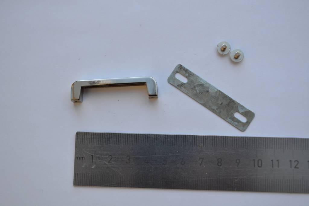 Draagriembevestiging brug 35mm zilver