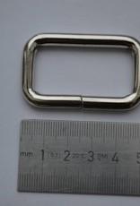 Rechthoekige ring zilver 40x20x6
