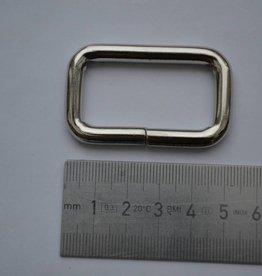 R 2 Rechthoekige ring zilver 40x20x6