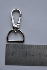 Musketonhaak zilver 20mm