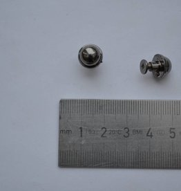 VR10 Sierknop met vijsjes rond 10mm gunmetal