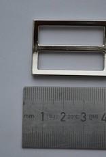 Schuifgesp 30mm zilver