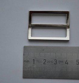 S23 Schuifgesp 30mm zilver