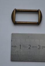 Rechthoekige ring brons 25mm